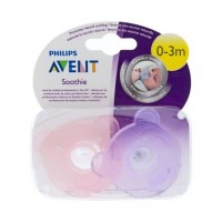 AVENT CHUPETE SILICONA SOOTHIES 0-3M ROSA 194/02
