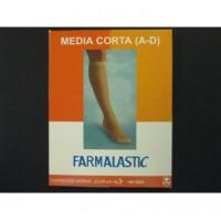 FARMALASTIC MEDIA CORTA COMP NORM T-RP NEGRO